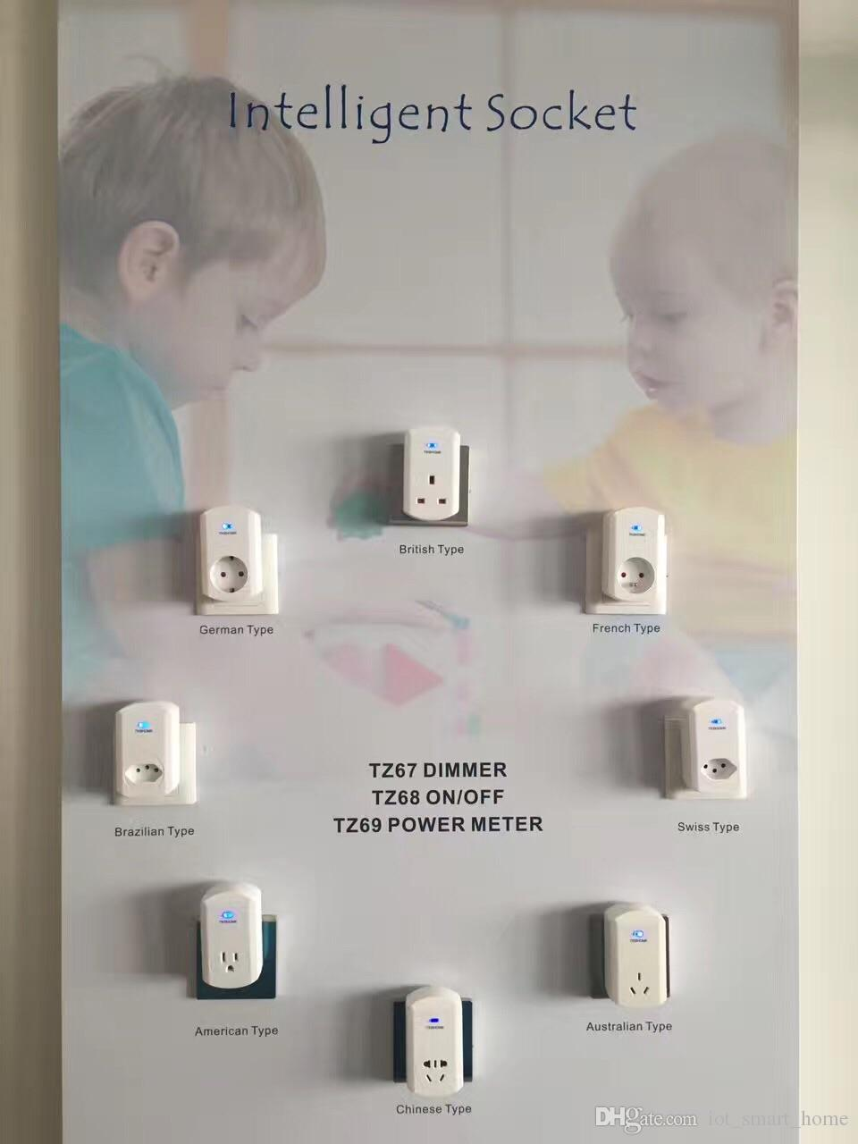 Swiss type Gen5 Z-Wave plus power consumption monitor plugs TZ69CH for energy management to save electricity