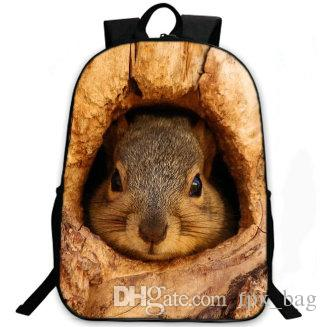 Hide rabbit backpack Cute animal daypack Lovely hare schoolbag Leisure  rucksack Sport school bag Outdoor day pack