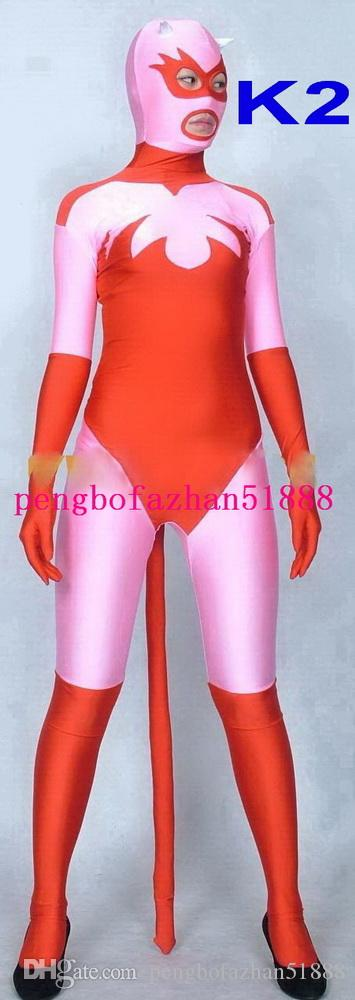 Amazing 5 Style Lycra Spandex Animal Shape Suit Catsuit Costumes Unisex Fantasy Cat Fox Costumes Outfit Halloween Party Cosplay Suit P073