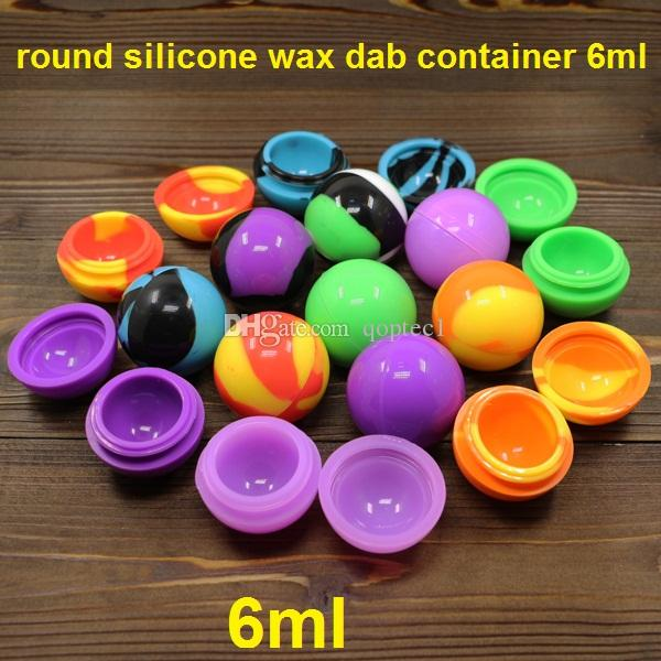 round silicone wax dab container concentrate silicone ball container silicone jars or wax oil extract bho wax oil jar