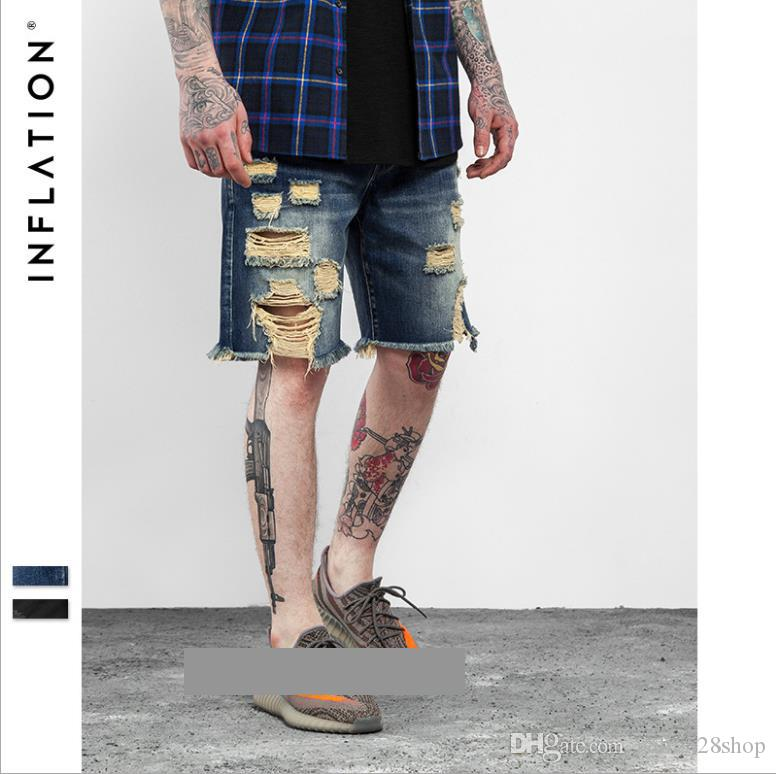 c58d26d4 Men's Shorts Jeans |2017 Brand Street Wash Water Old Style Burr Hole Jeans  for Men's Casual Pants Shorts