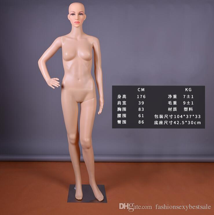 Moda all'ingrosso Sexy 3Style PE Wedding Femmina Body Model Puntelli Esposizione finestra Cosmetology Sewing-Mannequin vestiti B587