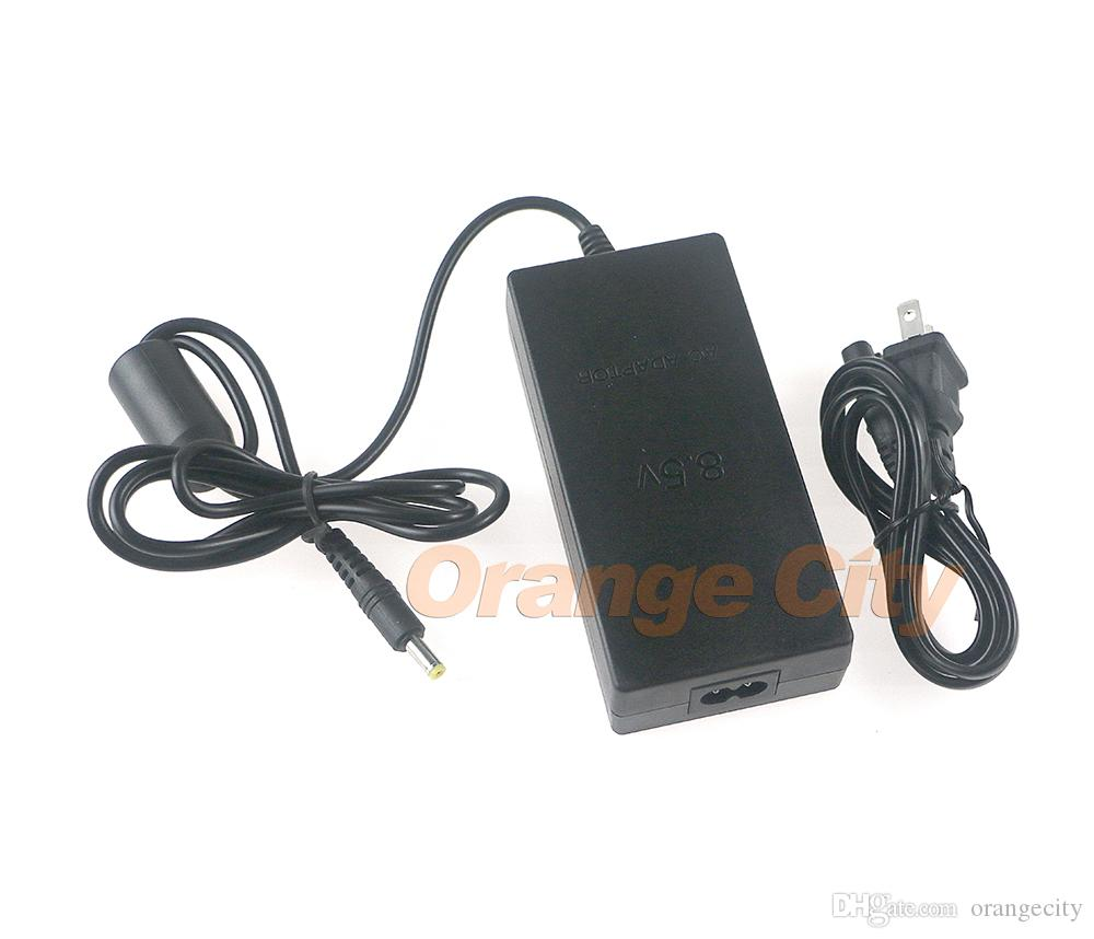 US Plug AC Adapter Charger Cord Cable Supply Power For PS2 Console Slim Black
