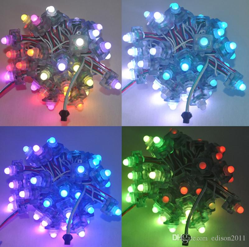 Edison2011 DC5V 12V WS2811 RGB Full Color Square Diffused Digital LED Pixel Module String IP68 Waterproof Individually Addressable
