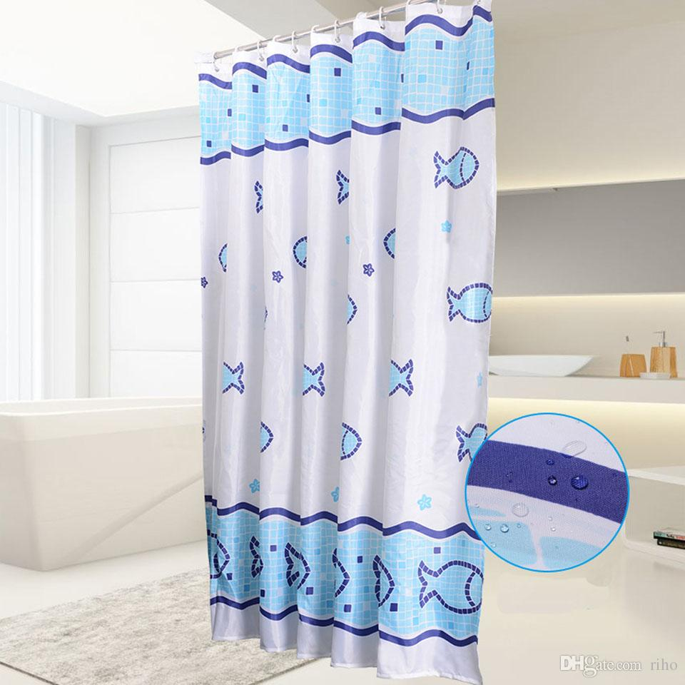 2019 Riho Shower Curtain Waterproof Mildew Resistant Fabric Fish From 914