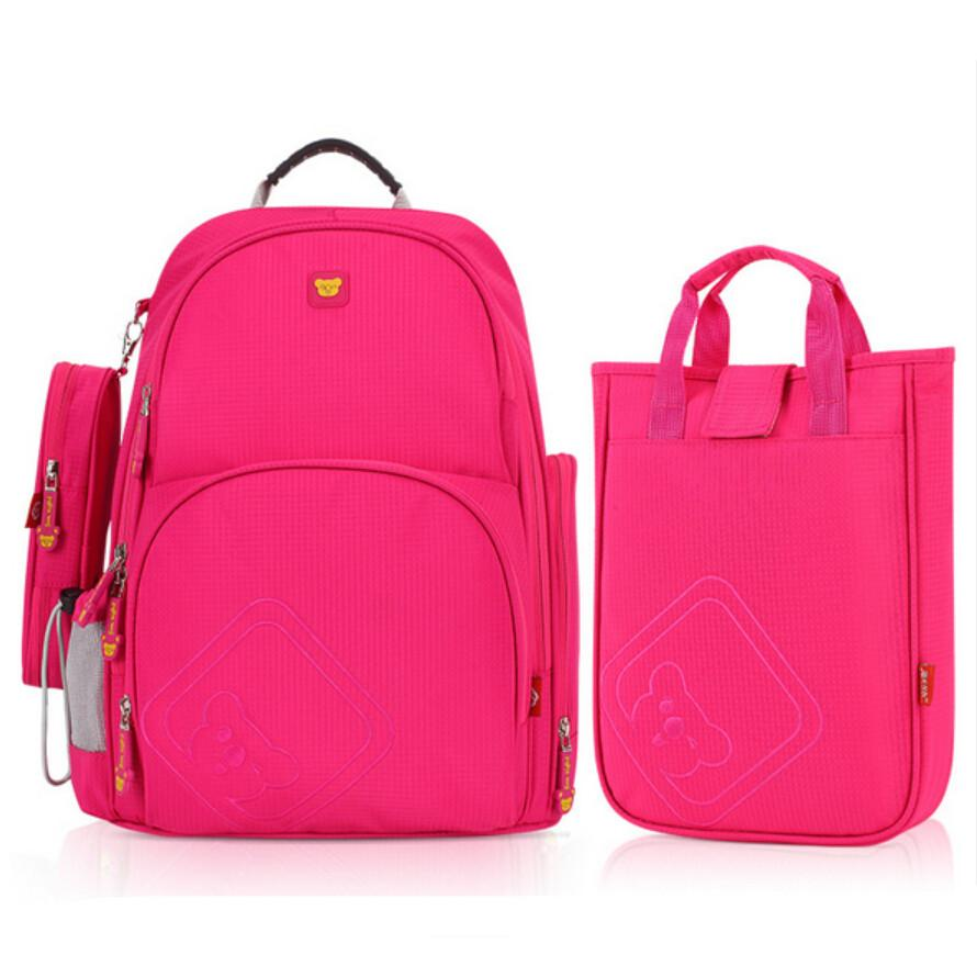 Children Girls School Bag Set Lunch Box Bag Korean Style Cute ...