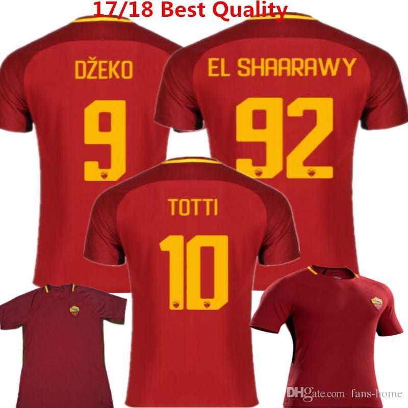 Soccer Jerseys Romaes Camisetas De Futbol Totti De Rossi 17 18 Calcio  Maglia Italia Serie A CASTAN LJAJIC PJANIC Special Version SPQR Shirts  Romass Third ... 0c83df351