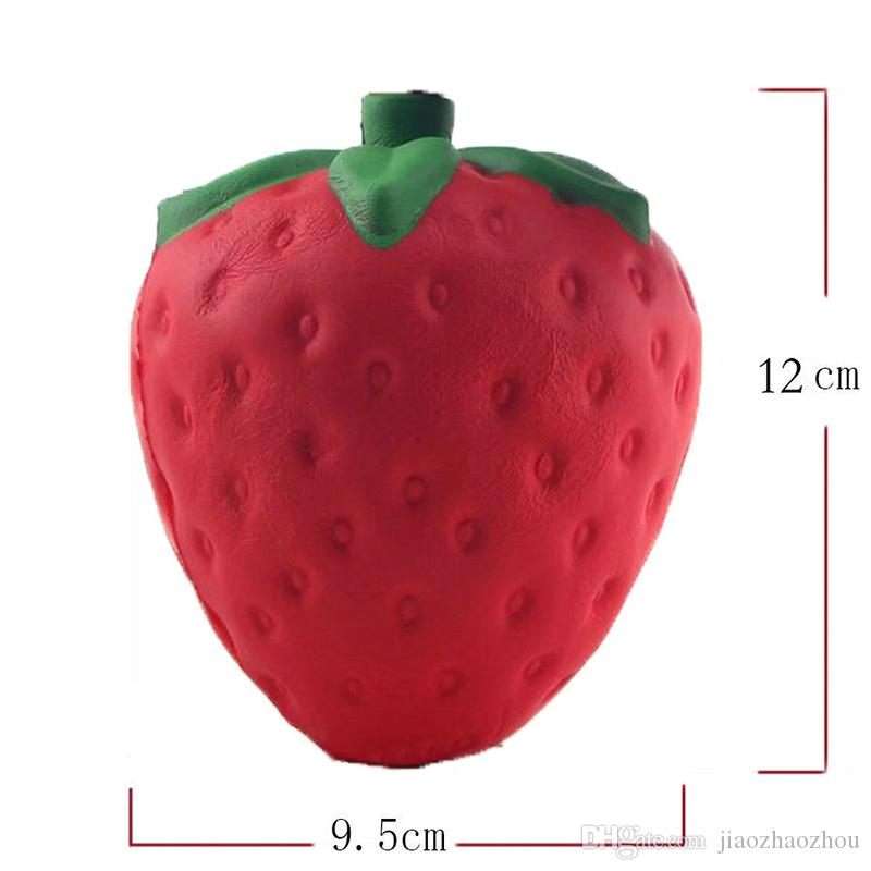 Slow Rising Squishy Jumbo Strawberry Red Phone Charm Squeeze Toys Squishies Soft Fruit Kids Toys