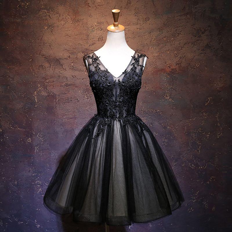 Black Beaded Cocktail Dress