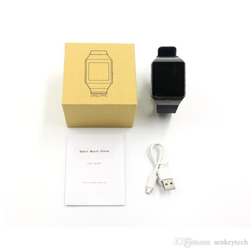 Dz09 Relógios Inteligentes Com Suporte de 1.56 polegada Bluetooth SIM Slot Phone Call Escrever Assista Pedômetro Câmera para o iphone 6 plus 5S samsung s6 nota 4