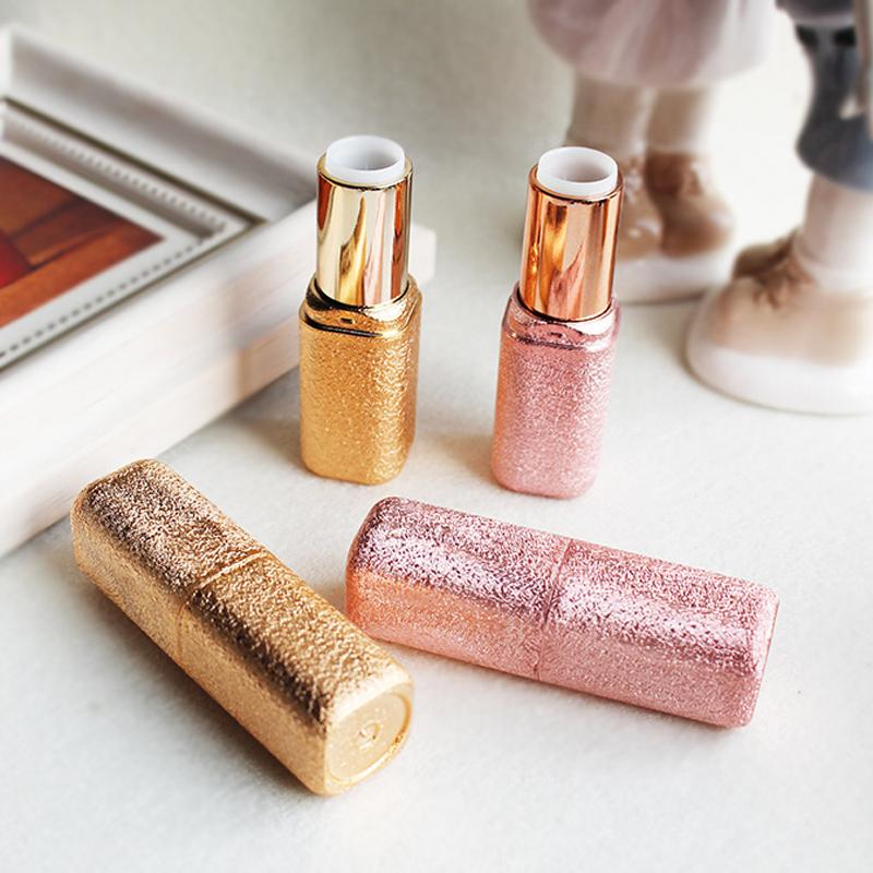 12.1mm Golden Gleam Luxury Glitter Empty Lipstick Lipgloss Tube Case Makeup Maquillage Packaging for Women 20pcs