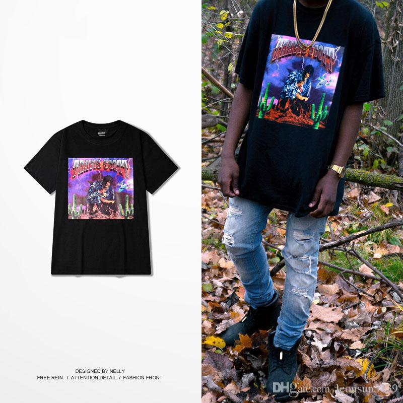 Célèbre Travis Scott Rock Hip Hop High Street Tee Kanye West Short Sleeve  KG16