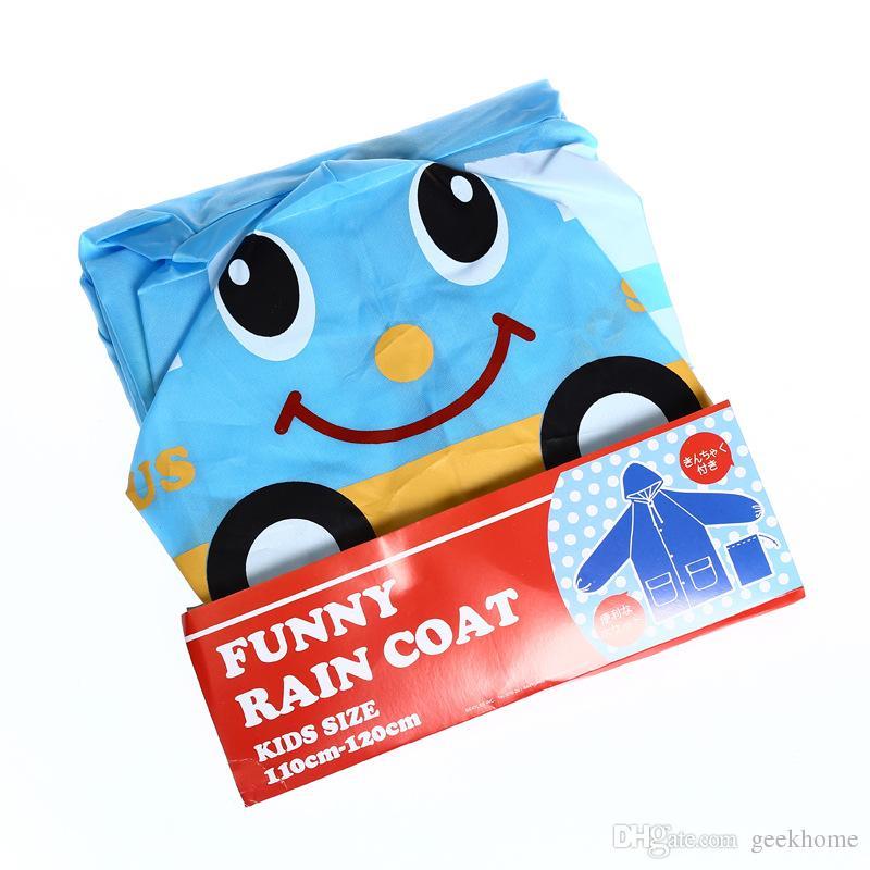 lovely funny Korean cartoon animal conjoined children kindergarten children raincoat boy girl waterproof raincoat poncho wholesale free ship