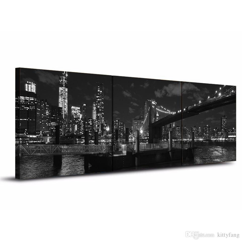 Canvas Painting Printed Brooklyn Bridge New York Wall Art Canvas Pictures For Living Room Bedroom Home Decor up-1255C