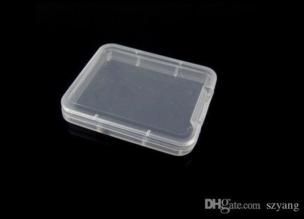 Небольшая коробка защита чехол для корпуса контейнеров карты памяти коробки инструмент пластиковый прозрачный хранилище легко нести практическое повторное использование