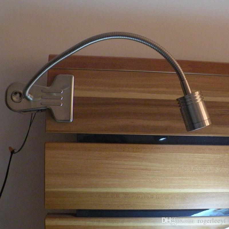 Masa Lambaları Üzerinde Topoch Klip Masa Işık Okuma Görev Illuimination 3W CREE LED 200LM AC100-240V ABD Fiş Kordon