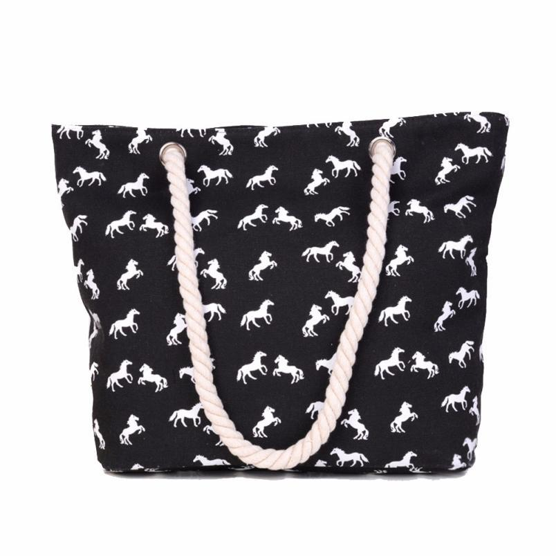 Grosshandel Grosshandels Frauen Handtasche Canvas Horse Grosse