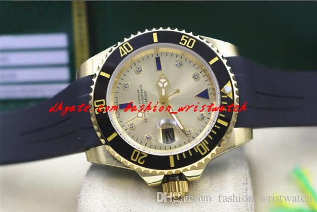Fashion Luxury Wristwatch Black Bezel Ceramic Rubber Bracelet Diamond Watch Mens 40MM Automatic Mechanical Men Watches New Arrival