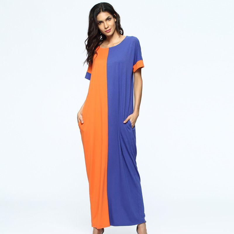 Orange Blue Dresses