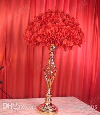 웨딩 테이블 꽃 홀더 장식 금속 크리스탈 스탠드 Candelabra 팬 캔들 홀더 파티 호텔 센터 피스 플라워 디스플레이