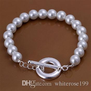 Wholesale  - 小売価格最低価格クリスマスプレゼント、送料無料、925シルバーファッションブレスレットH230