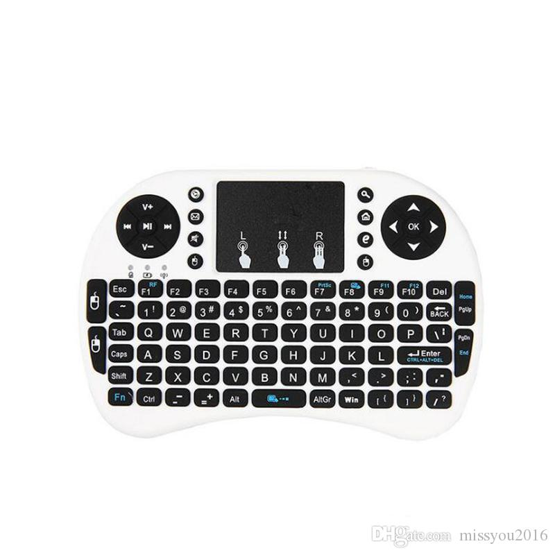 Wholesale i8 Mini Wireless Keyboard 2.4ghz English Russian Air Mouse Keyboard Touchpad Remote Control For XIAOMI Android TV Box