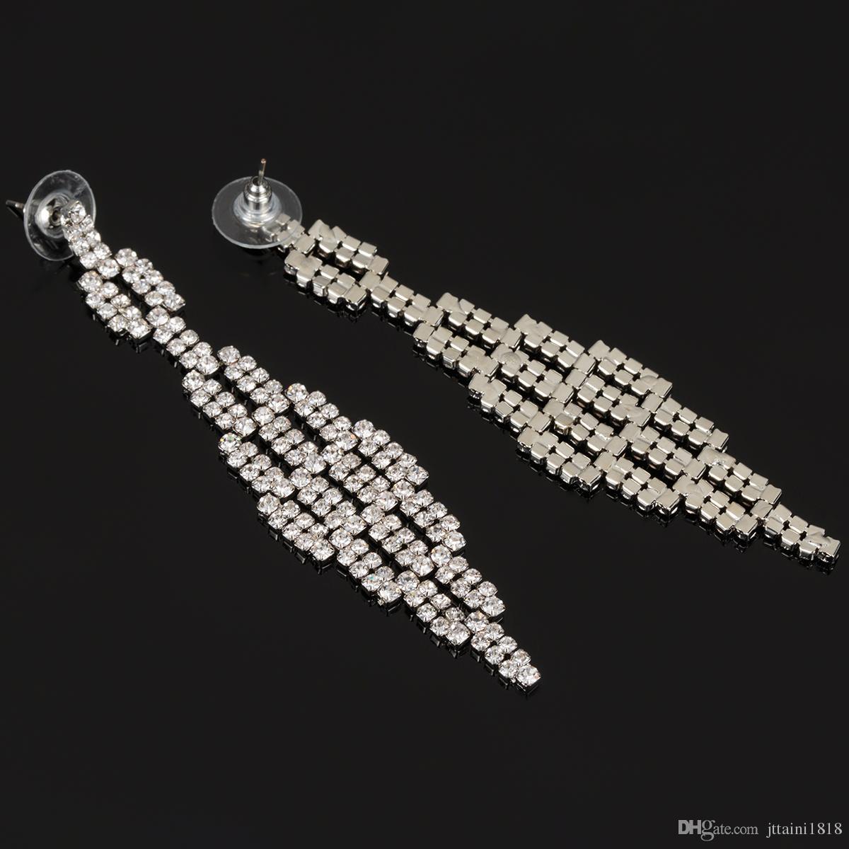 2017 новая мода очарование женщин Стад серьги ювелирные изделия классический долго многие небольшие горный хрусталь аксессуары Оптовая девушка подарок