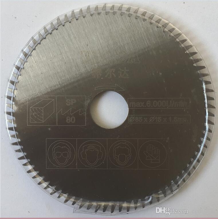 7 teile / satz mini sägeblätter schneidmesser für mini kreissäge, durchmesser 85x15mm, elektrische sägeblatt, elektrowerkzeug zubehör klingen