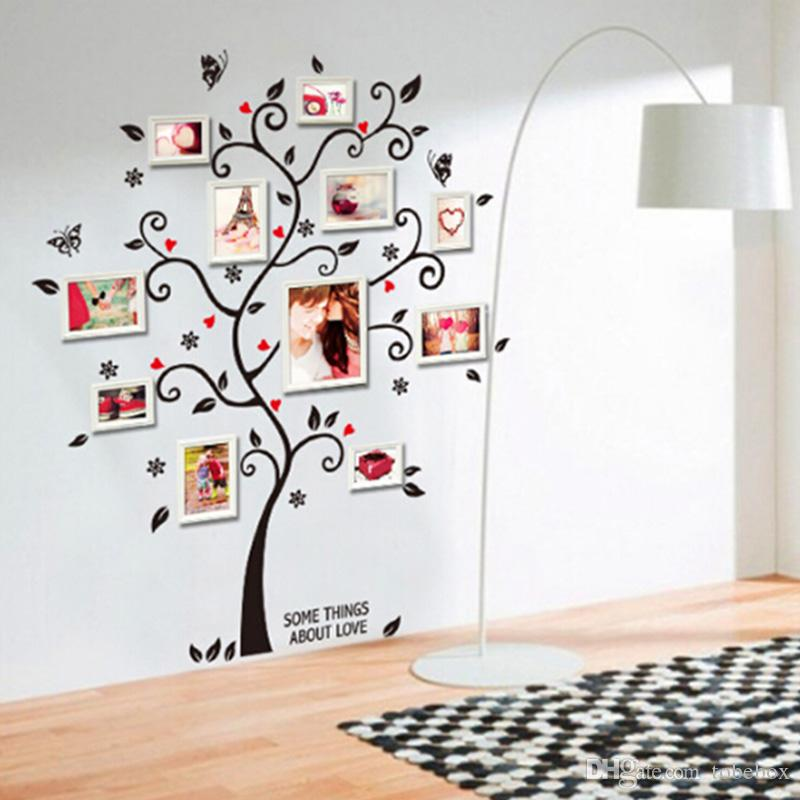 Living Room Decals photo frame valentine's day gift lovers surprise tree butterfly