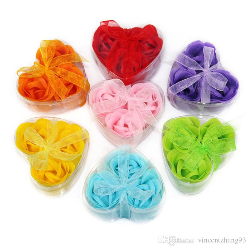 Acheter Savon Fleur Forme De Coeur Fait A La Main Rose Savon Petales