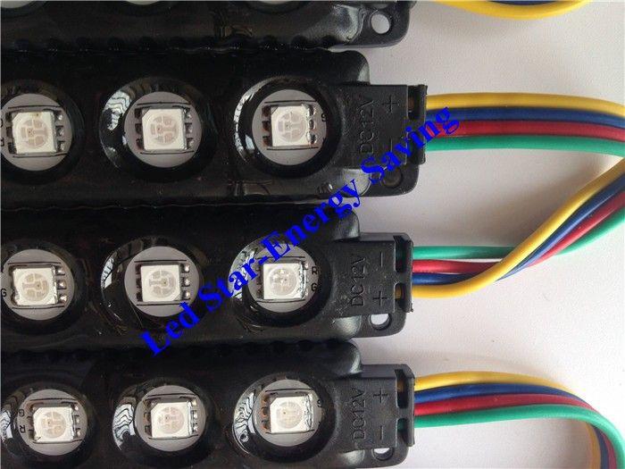 블랙 LED RGB 모듈 10 피트 =  주입 ABS 플라스틱 5050 SMD Led 모듈 3Leds / 1.2W Led 백라이트 문자열