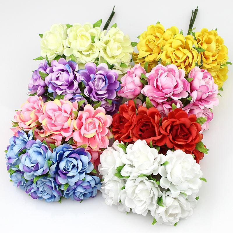 2018 3cm Artificial Rose Silk Flower Bouquet Fabric Flowers For ...