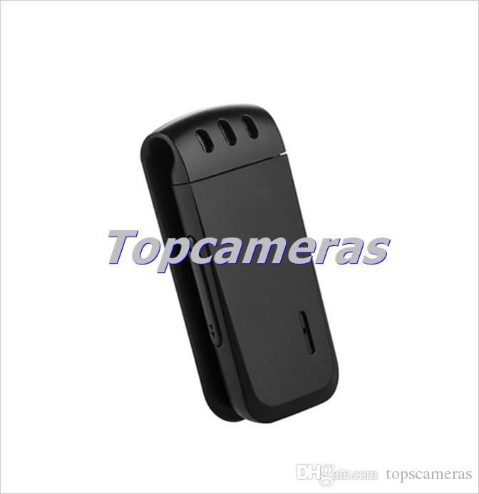Livraison gratuite WR-16 Mini Professional 16GB Enregistreur vocal numérique avec pince pour ceinture, Format d'enregistrement WAV Noir