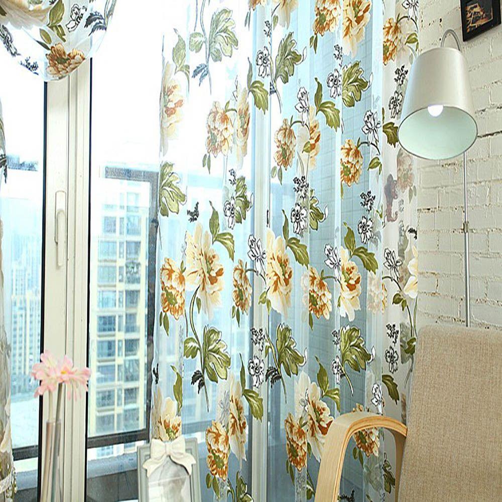 Sheer Curtains 270cm X 100cm Door Room Flower Tull Window Screening Curtain  Drape For Bathroom Living Room Living Room Drapes Track Curtains From  Finacg, ... Part 75