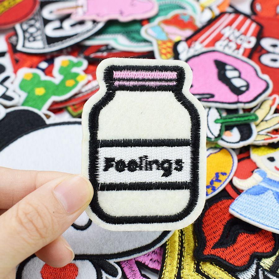 Diy patches para roupas de ferro bordado patch applique ferro em remendos acessórios de costura crachá adesivos para roupas saco