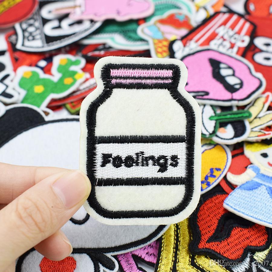 patches de DIY para o ferro bordado roupas ferro applique patch em manchas de costura acessórios crachá adesivos para saco roupas