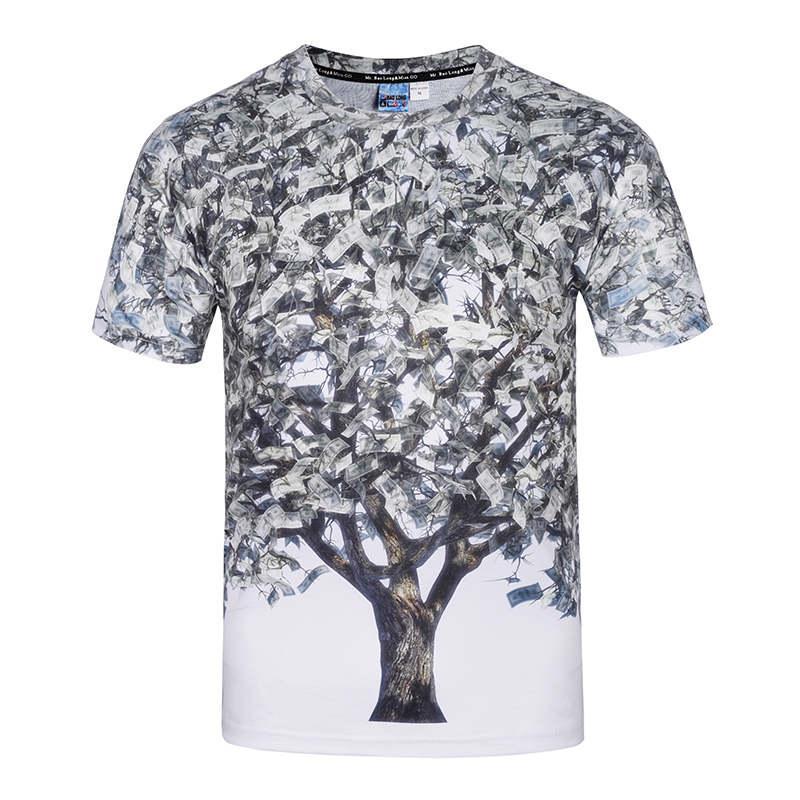 Cool Hip Hop Tshirts Men'S Sweatshirts Big Size 3d Paper Money ...