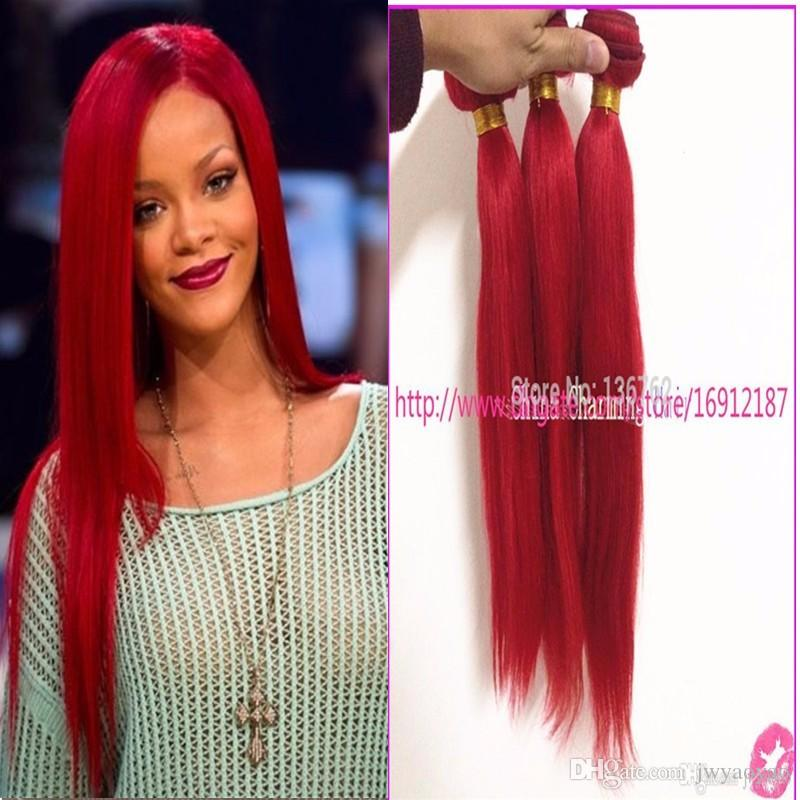 Red virgin hair weave soft relaxed red silky straight hair 3 see larger image pmusecretfo Image collections