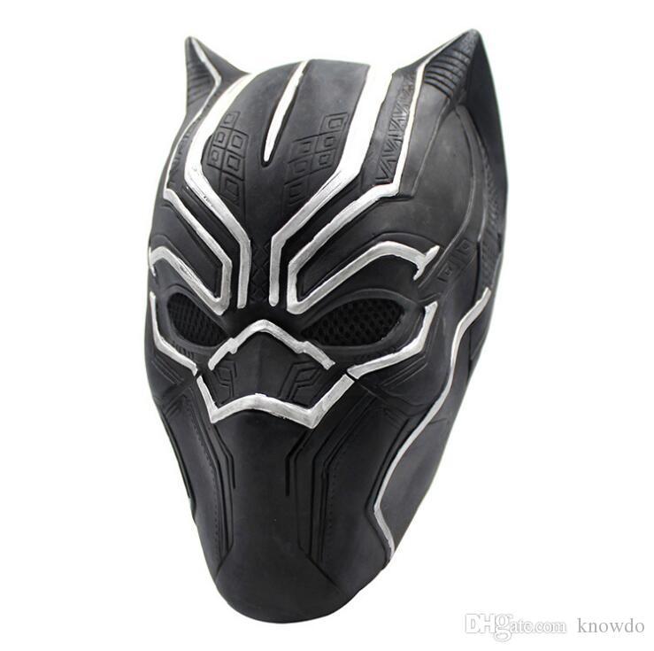 Mascherina della pantera nera Movie Fantastic Four Cosplay Maschera di lattice Halloween Party Decoration Movie Cosplay Mask Spedizione gratuita