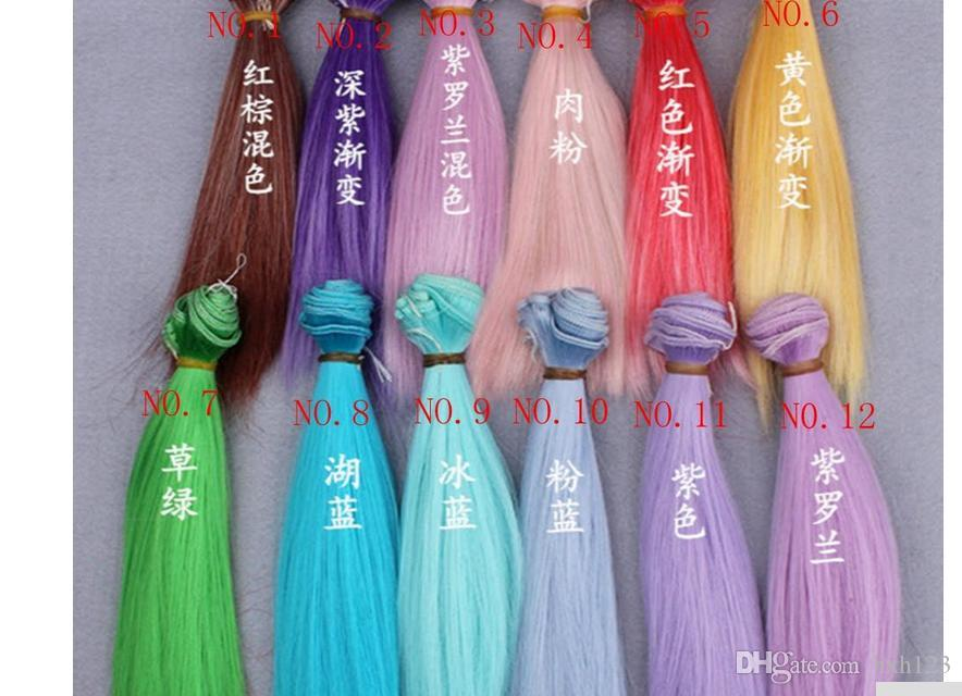 Doll Hair Diy High Temperstraight Hair Free Shippingature Wire Many