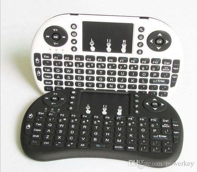 أفضل Rii i8 Fly Air Mouse Mini لوحات المفاتيح لوحة المفاتيح اللاسلكية الوسائط المتعددة التحكم عن بعد لوحة اللمس المحمولة للتلفزيون BOX X96 A95X MXQ Pro