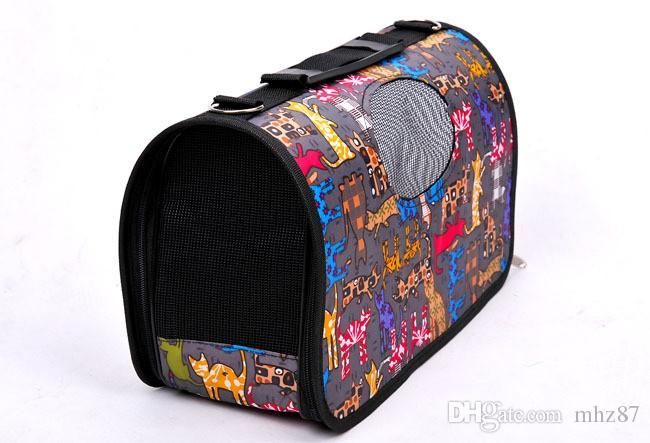 Pet Dog Cat Tote Carrier Small Medium Large Cani Carrier Design Fanshional Borsa cani portatile rimovibile Facile da trasportare Viaggio applicabile