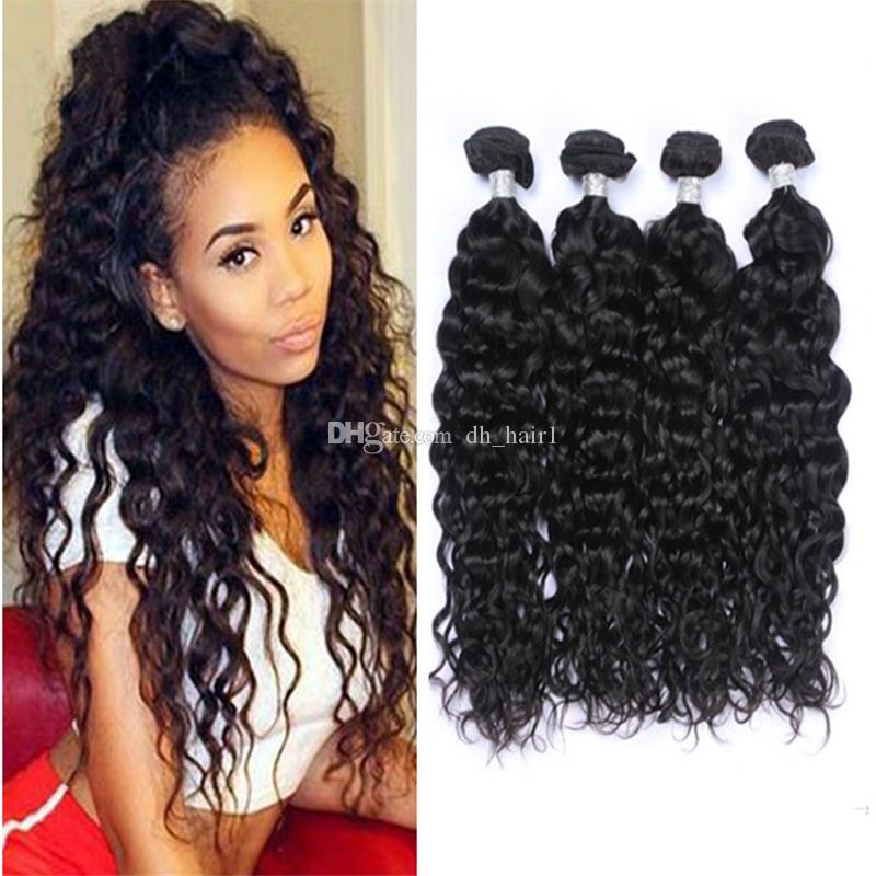 8a Grade Brazilian Water Wave Hair Weaves Wet And Wavy Hair Bundles