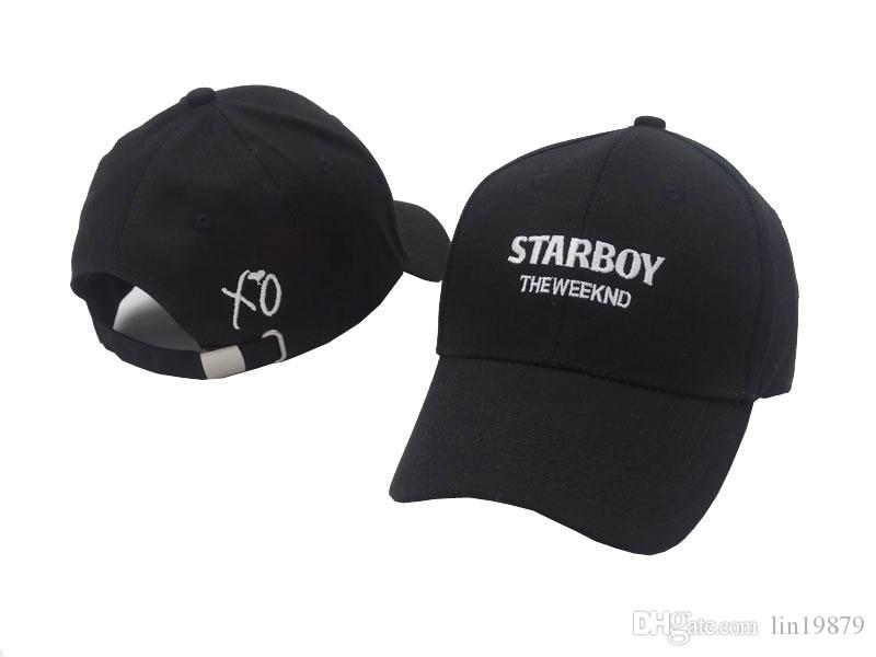 c54f53ad6ea 2017 New Fashion The Weeknd Starboy Baseball Caps Strapback 6 Panel Snapback  Hats for Men women Brand Golf Sports Hip Hop Bone Gorras Baseball Caps  Snapback ...