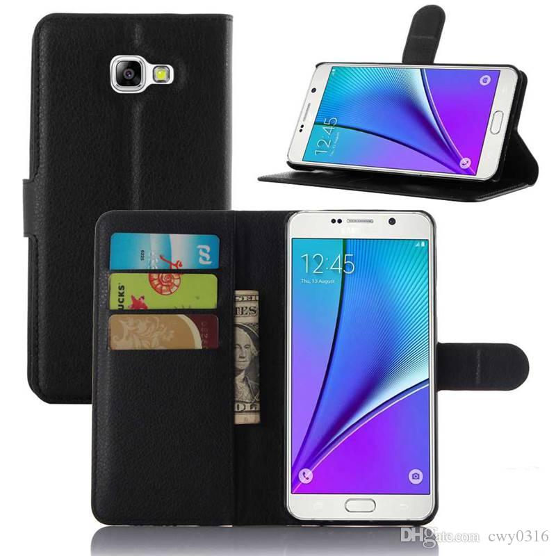 hot sales 56204 c9ed7 for Samsung Galaxy A5 2016 Case Luxury Leather Case for Samsung Galaxy A5  2016 A5100 A510 A510F Cover Wallet Style Phone Cases
