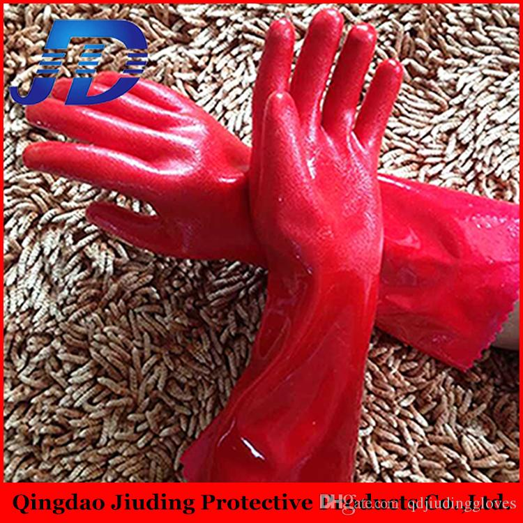 Free sample , china supplier wholesale smooth warm pvc coated winter safety work gloves with glove manufacturer