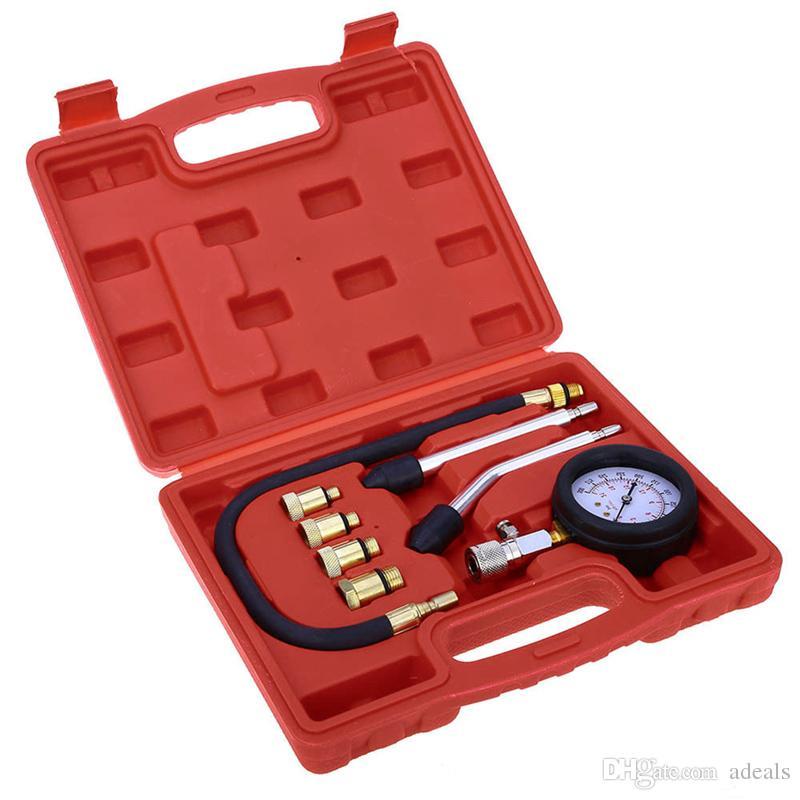 Petrol Gas Engine Cylinder Compressor Gauge Meter Test Pressure Compression Tester Leakage Diagnostic Tester