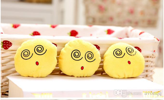 BFFA128 QQ Emoji key chain Smiley Pillow Accessori Small Plush Doll Keychain Pendant Emotion Yellow Expression Stuffed Toys Christmas gift