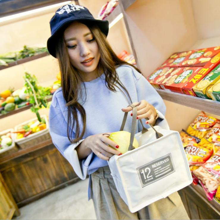 Thermal Cool Insulated Reusable Lunch Bags Women Men New Stylish Waterproof Storage Tote Bag Picnic Travel Box Small Leisure Zipper Handbags
