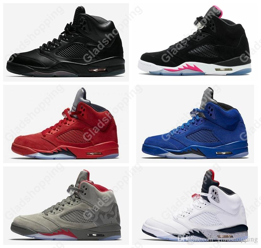 first rate a0483 9b93c 5 Premium Pinnacle Black Hyper Pink Red Blue Suede White Cement Camo Women  Men Basketball Shoes Sneakers 5S Basket Sport Basketball Shoes For Sale ...